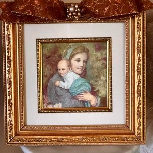 Other - Mother  child picture with vintage jewel